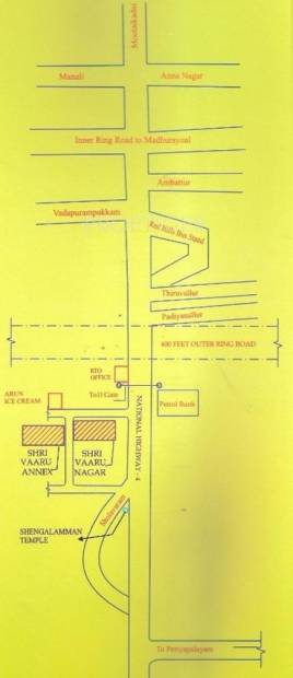 Images for Location Plan of EBN Realities Sri Vaaru Nagar