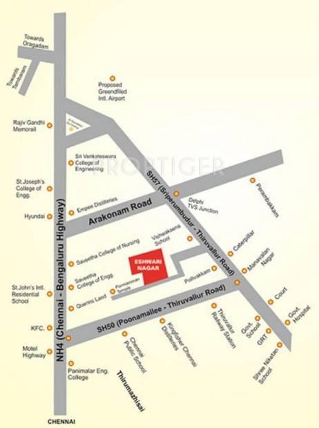 Images for Location Plan of Sangeetha Foundation Eshwari Nagar