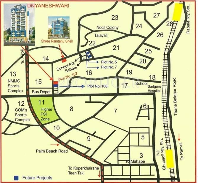 Shree Ramtanu Group Dynaneshwari Location Plan