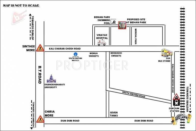 Beyond Bricks Realtor Bidhan Residency Location Plan