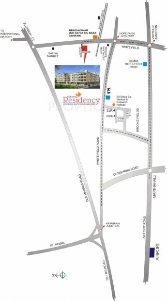 residency Images for Location Plan of Keerthi Residency
