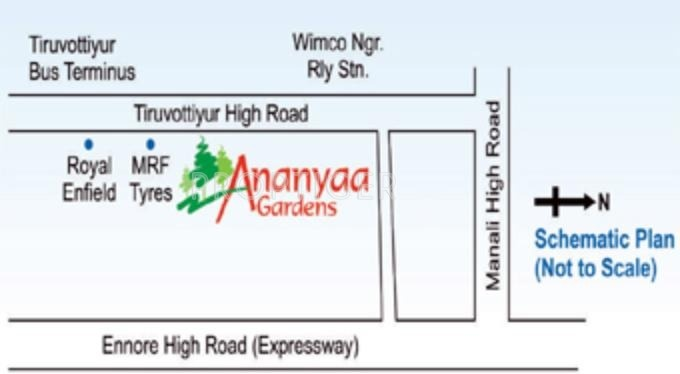 Images for Location Plan of Annai Ananyaa Gardens III