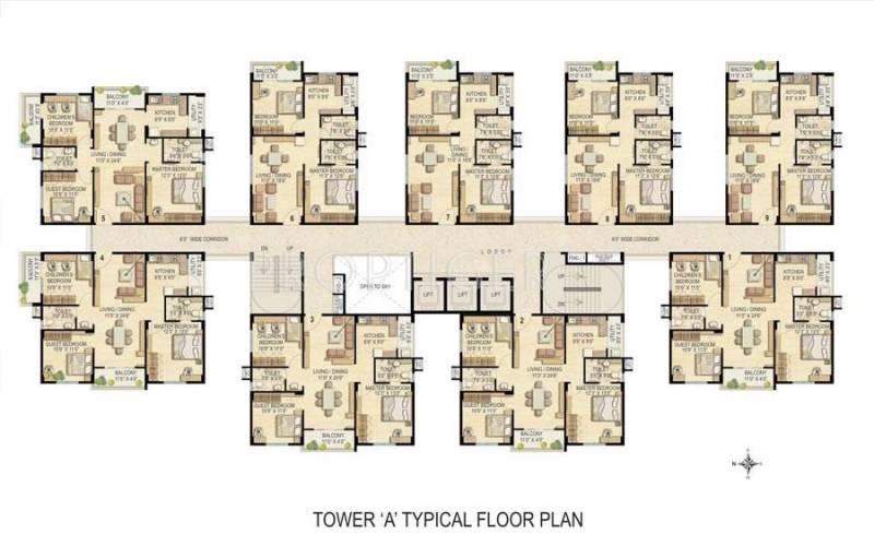 Images for Cluster Plan of Raheja Vistas