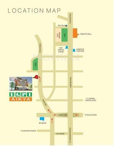 Ever Green Aikya Location Plan