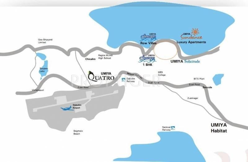 quatro Images for Location Plan of Umiya Quatro