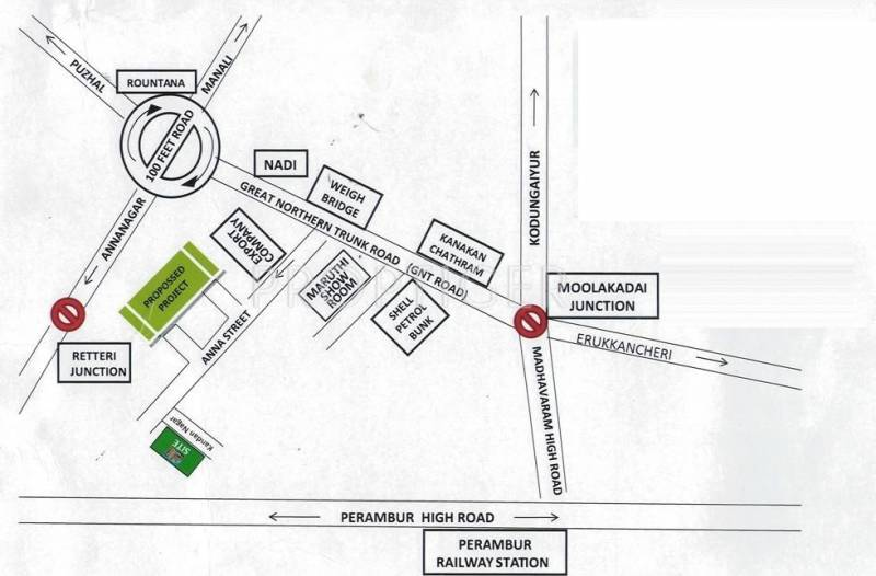 Pranav Foundation Srivari Location Plan