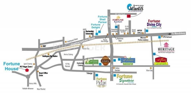 Fortune Builders Soumya Atlantis Location Plan