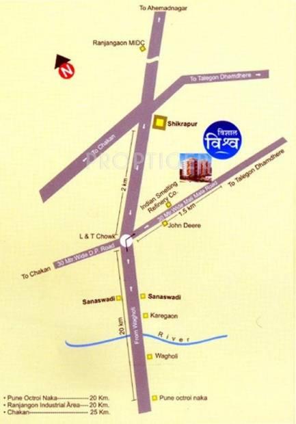 vishwa Images for Location Plan of Vishal Vishwa
