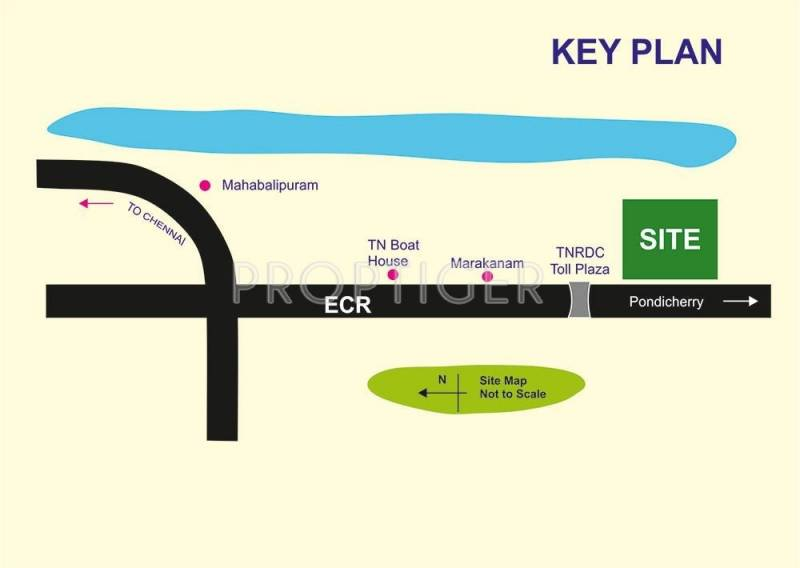 Images for Location Plan of Annai Sea Side Beach