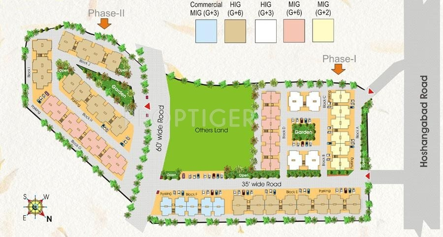 1139 Sq Ft 3 Bhk 3t Apartment For Sale In Fortune Builders Divine City Hoshangabad Road Bhopal