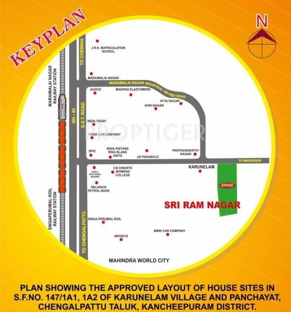 Images for Location Plan of Annai Sri Ram Nagar