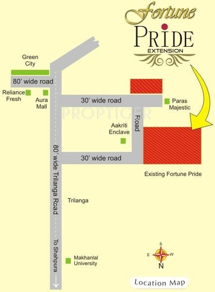 Fortune Builders Pride Extension Location Plan