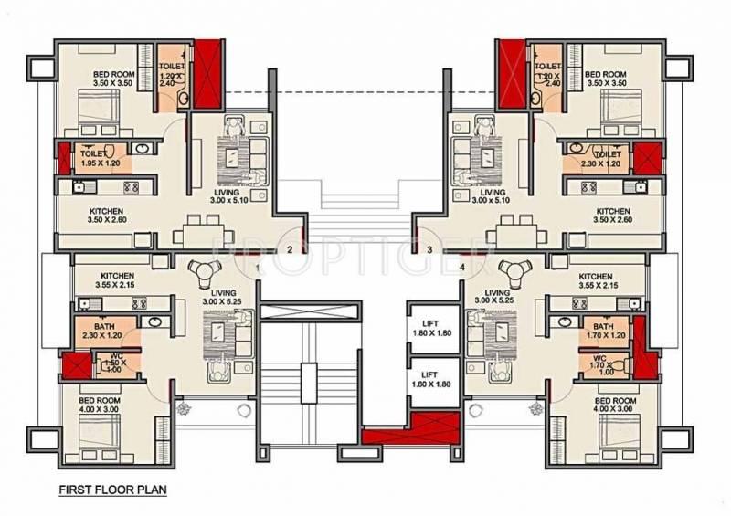 Images for Cluster Plan of Bajaj Sterling Gurukrupa CHS