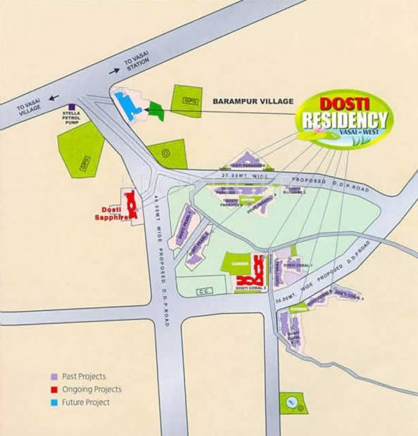 Images for Location Plan of Dosti Group Sapphire