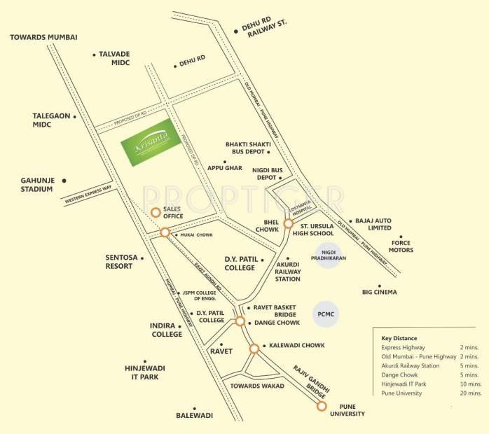 krisanta-skyline Images for Location Plan of Krisala Krisanta Skyline