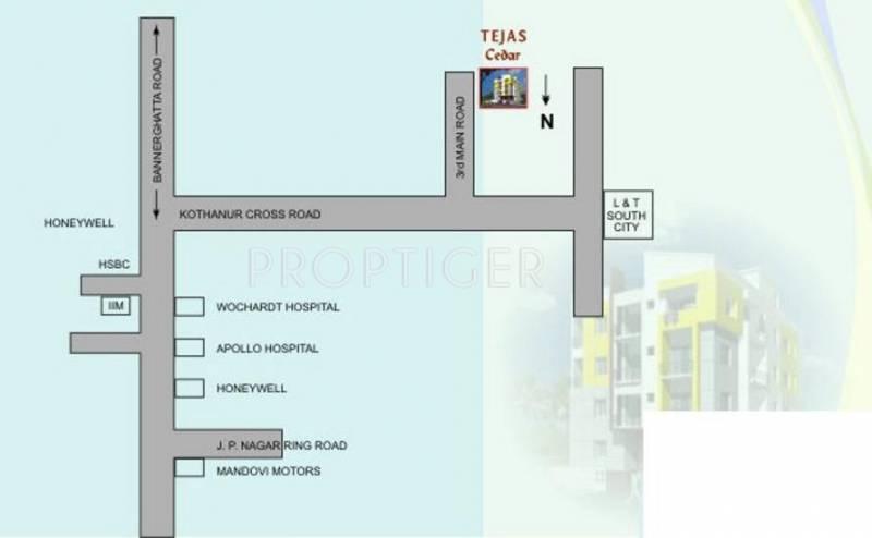 Tejas Constructions Cedar Location Plan