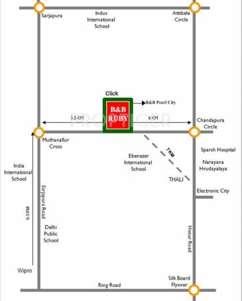B And B Properties Ruby Location Plan