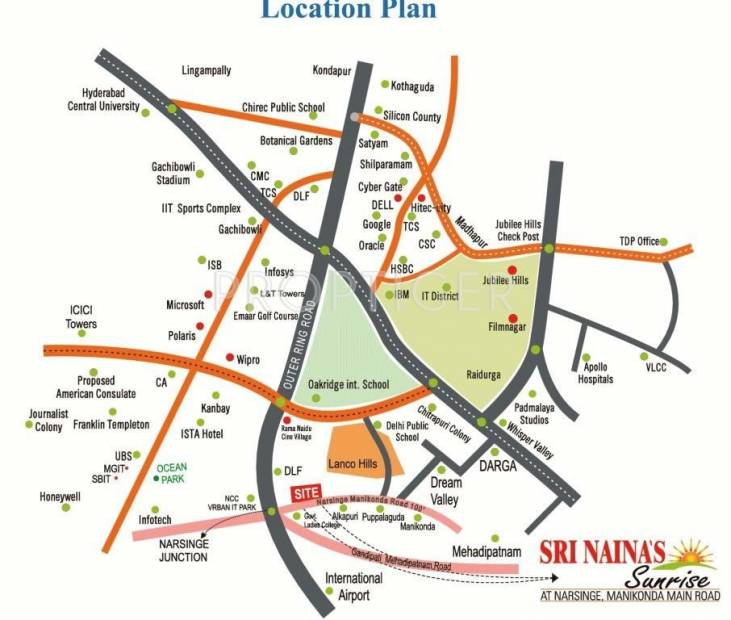sri-nainas-sunrise Images for Location Plan of Sunrise Builders Sri Nainas Sunrise