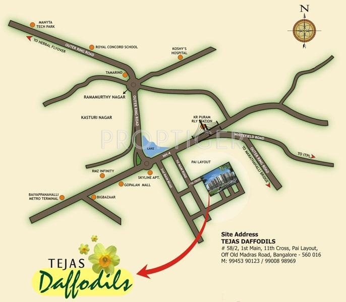 Tejas Constructions Daffodils Location Plan