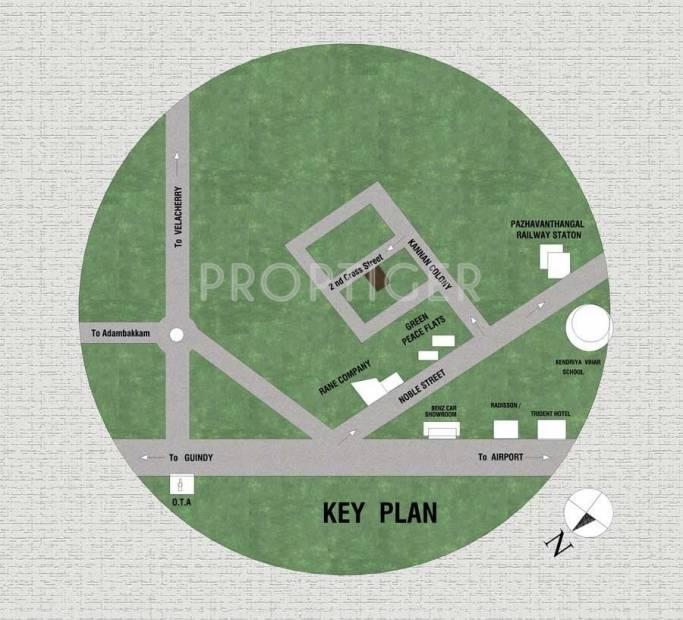 Images for Location Plan of DGP Builders Alandur