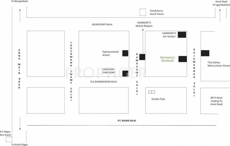 Images for Location Plan of Harmony Santhosh