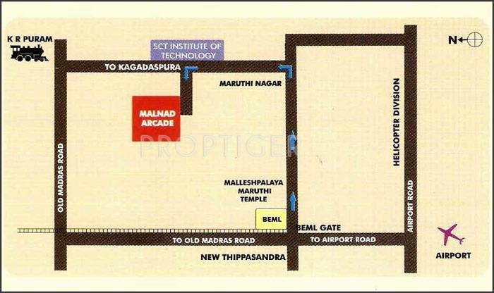 Malnad Homes Arcade Location Plan