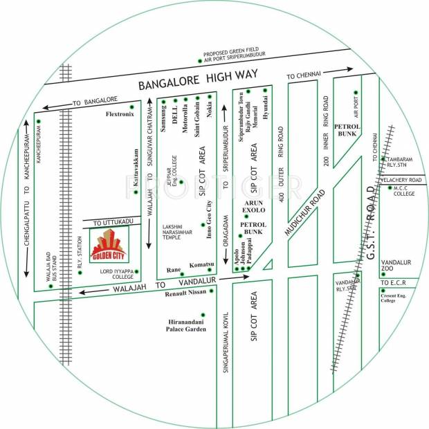 Images for Location Plan of City Land Promoters Golden City