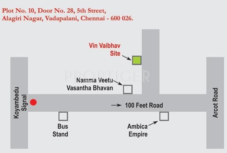 Vin Homes Vin Vaibhav Location Plan