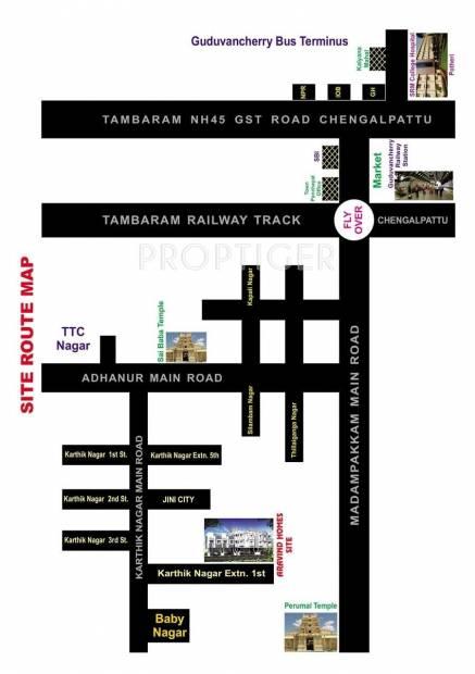 Arvind Homes Aravind villa Location Plan