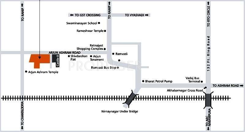 Dharmadev Infrastracture Swaminarayan Castle 1 Location Plan