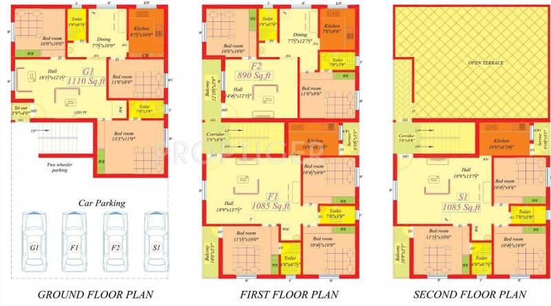 Arvind Homes ENCLAVE  I Cluster Plan