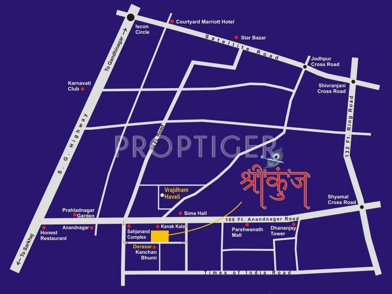Nidhi Group Shreekunj Location Plan