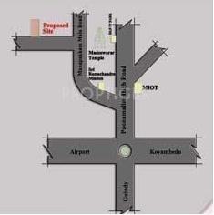 Guna Builders Manapakkam Location Plan