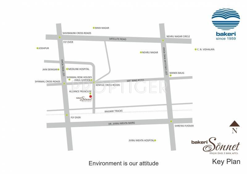 sonnet Images for Location Plan of Bakeri Sonnet
