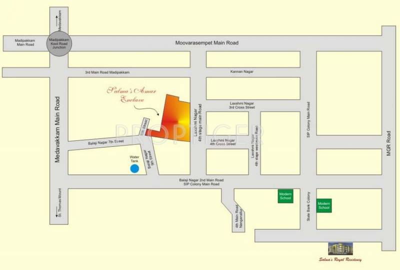 Salma Constructions Amar Enclave Location Plan