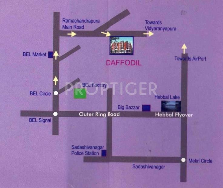 Images for Location Plan of Vishwas Vishwas Daffodil