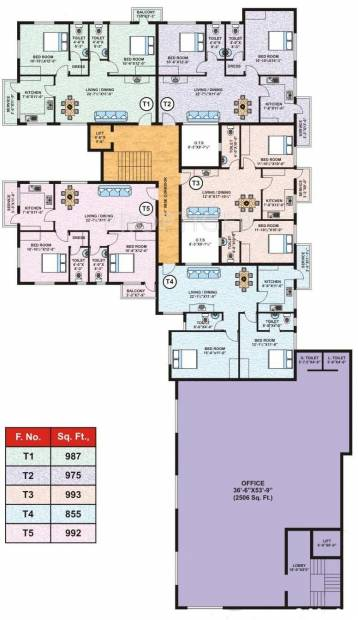 Images for Cluster Plan of Salma Constructions Classic Towers