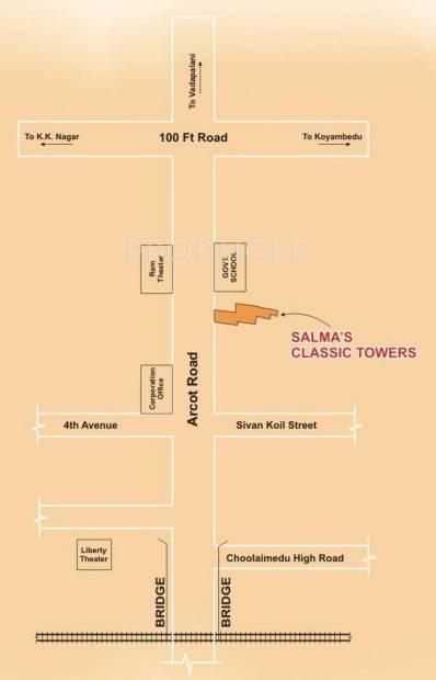 Salma Constructions Classic Towers Location Plan