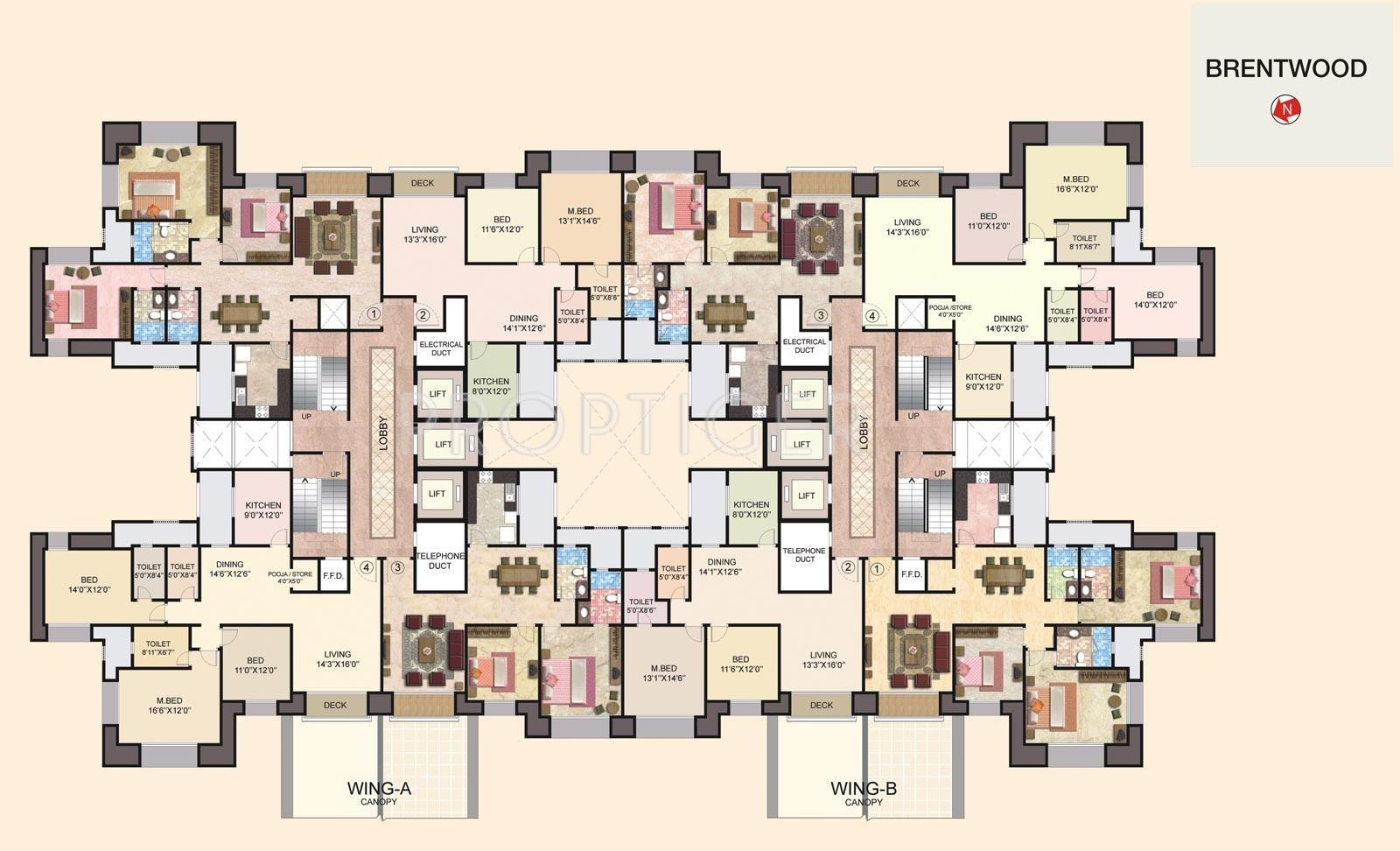 Hiranandani brentwood in navallur chennai price for Brentwood house plan