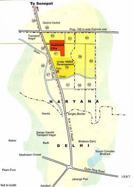 Images for Location Plan of Ansal Sushant City