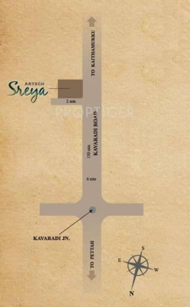 sreya Images for Location Plan of Artech Sreya