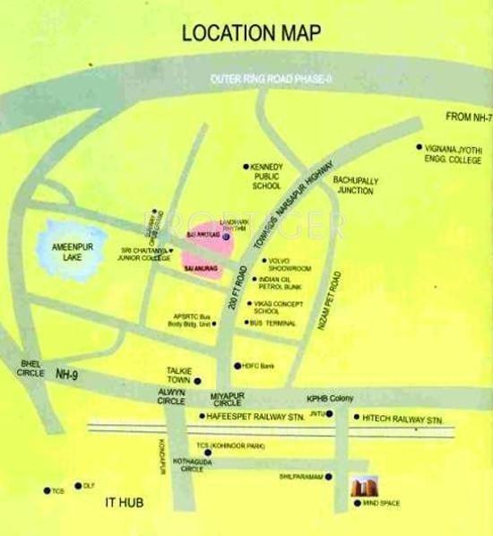 Janachaitanya Housing Sai Anurag Location Plan