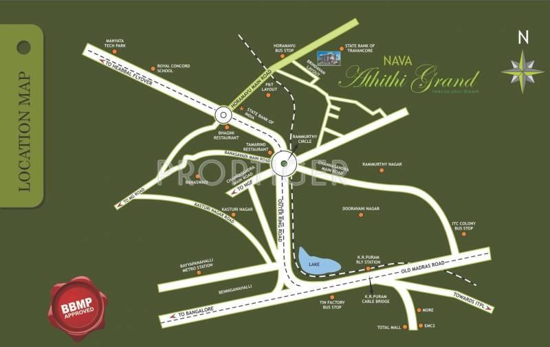 Navajyothi Constructions Athithi Grand Location Plan
