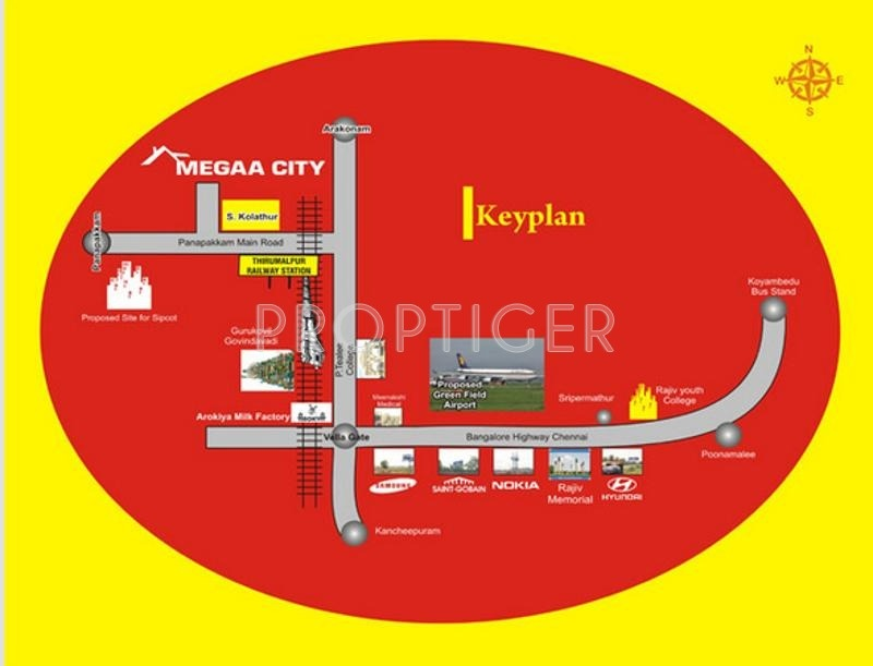 Images for Location Plan of Jai Megaa City