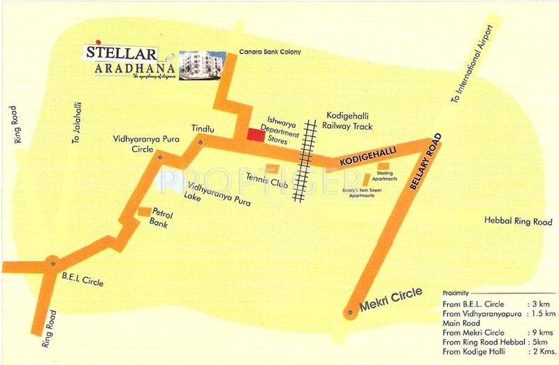 Stellar Homes Aradhana Location Plan