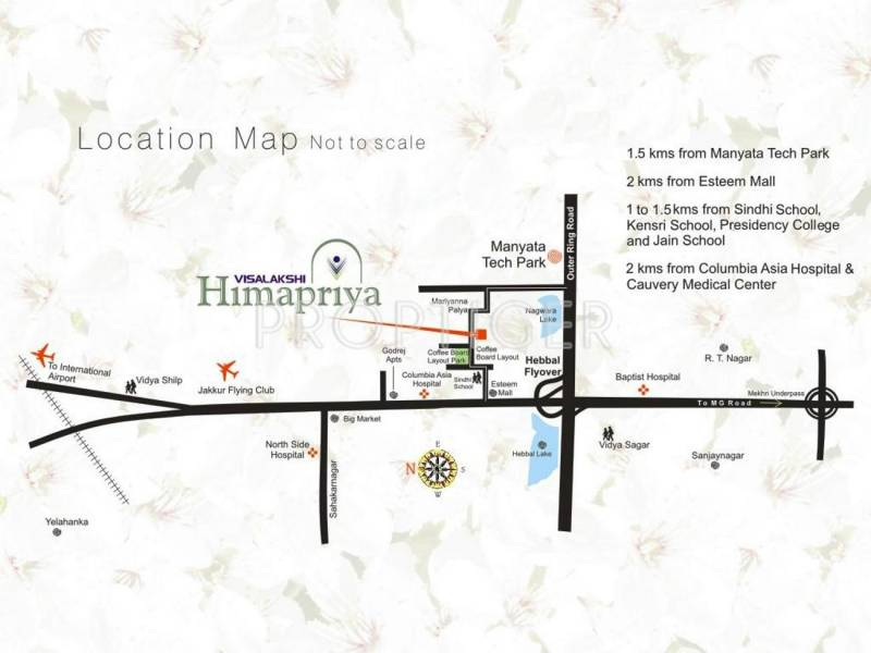 Visalakshi Housing Himapriya Location Plan
