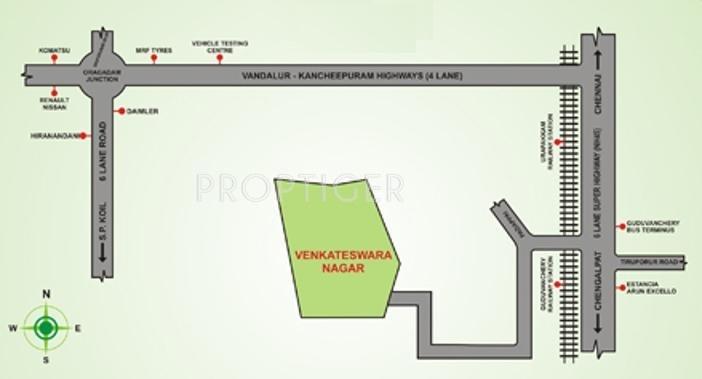 Images for Location Plan of Avani Sree Venkateswara Nagar