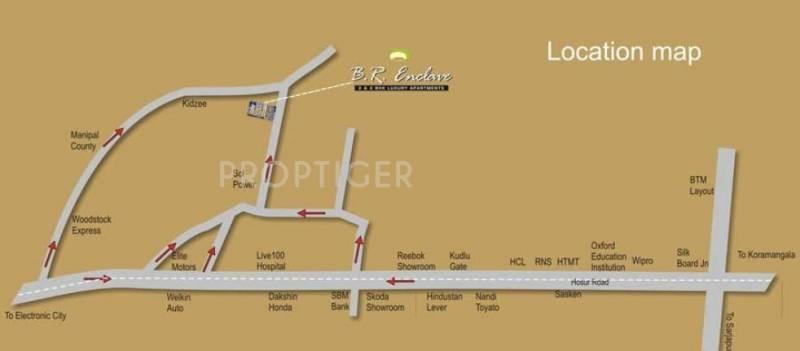 Sree Vandana Infra B R Enclave Location Plan