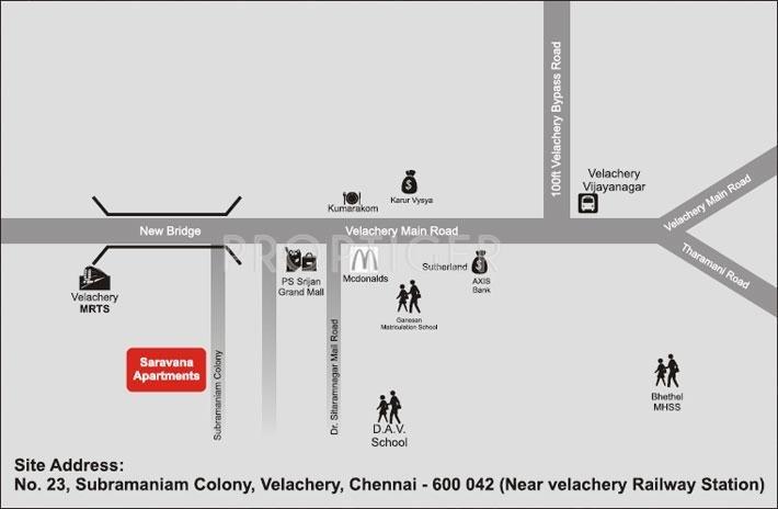 SP Homes Saravana Apartments Location Plan