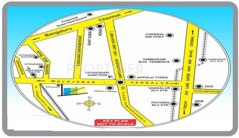 Images for Location Plan of  Sri Rathinam Nagar